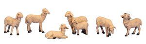 6 Schafe Set Weiss 4 - 6,5 cm hoch Figuren zur Dekoration