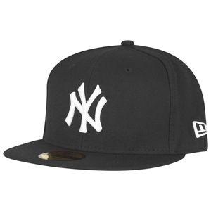 New Era 59Fiftys Cap - NY YANKEES - Black-White, Size:7 1/8