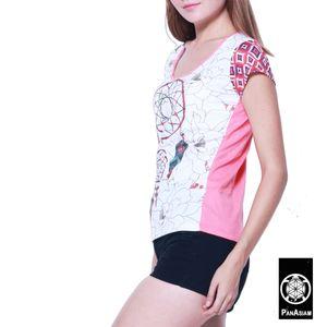 PANASIAM T-Shirt Dreamcatcher, Farbe/Design:weiß, Größe:M