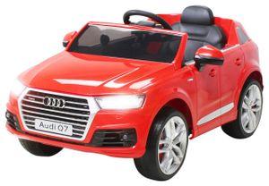 Kinder Elektroauto AUDI Q7 4M SUV Kinderauto Elektrofahrzeug Spielzeug Auto (Rot)