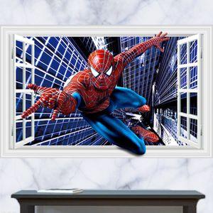 Wandtattoos  Superhero Spiderman Fenster Wand Aufkleber Hause Dekoration