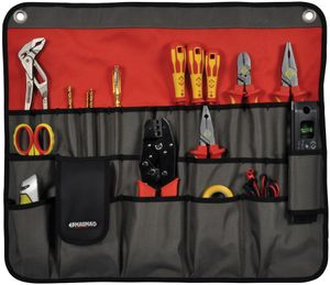 C.K Werkzeug Rolltasche Magma unbestückt mit 30 Taschen rot/ grau