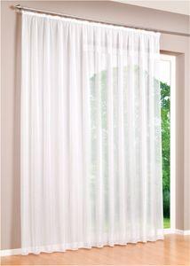 Gardinen Stores 300cm x 245cm Vorhang Kräuselband  mit Bleiband Voile transparent