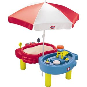 Little Tikes Wassertisch + Sandkasten mit Sonnenschirm Spielzeug Spieltisch
