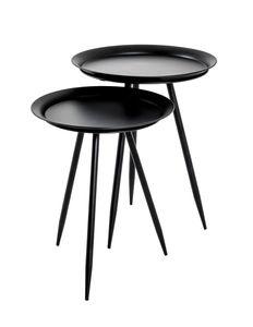 Haku Beistelltisch, schwarz - Maße: Ø 44 cm x H 54 cm; 20511