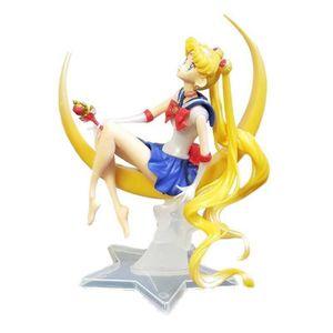 Anime Sailor Moon Tsukino Usagi PVC Action Figure Cake Decor Model Girl