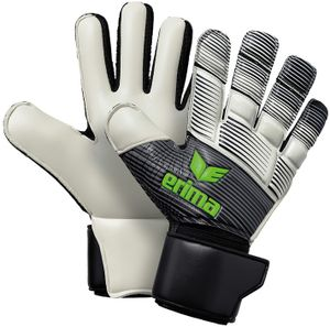 erima Skinator Hybrid Match Torwarthandschuhe black/white/green gecko 9