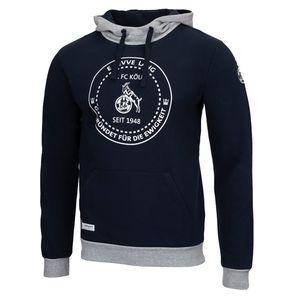 Uhlsport 1.FC Köln Sportswear Hoodie Freizeit Herren blau, Bekleidungsgröße:L