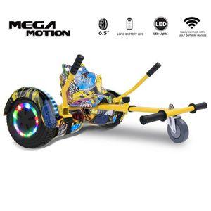 """Hoverboard mit HoverKart Go-kart Elektro Scooter Self Balancing Scooter 6.5"""" Segway Geschenk für Kinder und Erwachsene Bluetooth-Lautsprecher LED-Leuchten 700W"""