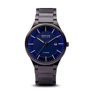 BERING - Armbanduhr - Herren - Solar - schwarz gebürstet - 15239-727