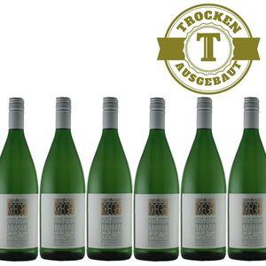 Weißwein Pfalz Weißburgunder Weingut Krieger Rhodter Ordensgut trocken (6 x 1,0L )