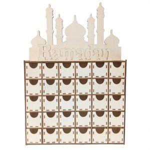 Holzkalender 30 Tage Countdown Islamic Muslim Countdown Home Drawer Dekoration Geschenk