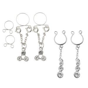 2 Paar Brustwarzen-Piercing Schmuck Brust-piercing CLIP ON Nippel-piercing Schmuck
