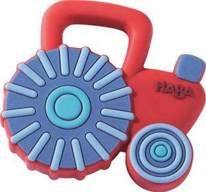 Haba beißring Traktor Junior 7 x 7 cm rot/blau