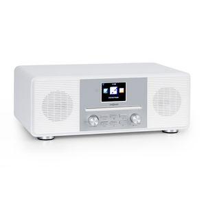 "oneConcept Streamo CD Internetradio, Radioempfang per WLAN, DAB/DAB+ und UKW, 2 x 10 W RMS, Bluetooth, CD-Player, Anschlüsse: AUX-IN, Kopfhörer, 2,8"" HCC Display, inkl. Fernbedienung, weiß"