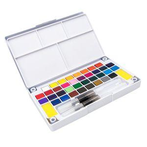 24 Farben Aquarellfarben Wasserfarben Aquarell malen
