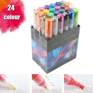 Miixia 24 Farben Acrylstifte Marker Für DIY Graffiti Stifte Set Acrylfarben Wasserfest