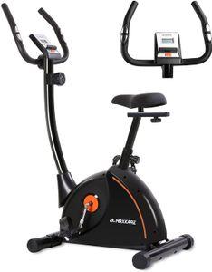 Heimtrainer Fahrrad Ergometer Hometrainer Fahrrad mit verstellbarem Polstersitz und Magnetwiderstands-Pulsmonitor-Transporträdern und Tablet-Halter