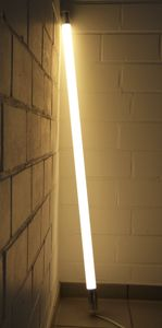 LED Leuchtstab matt 18 Watt warm weiß Vision 123 cm IP20 mit weißem Kabel #5015