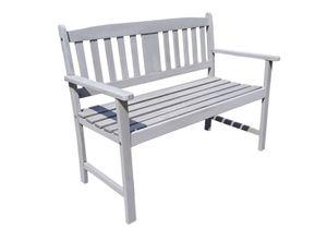 Garden Pleasure  Gartenbank 2-Sitzer B 110 x T 56,5 x H 86 cm, aus Eukalyptusholz, in Grau lackiert