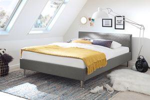 Meise Möbel Polsterbett Lima hellgrau Größe wählbar, Größe:120x200 cm