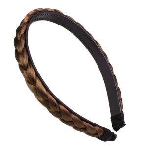 Haarreif mit geflochtenem Zopf, Farbe:S-6