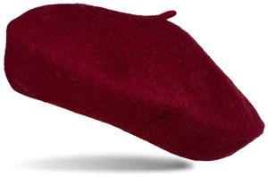 styleBREAKER Damen Baskenmütze mit Wolle in feiner Filz Optik, einfarbig, Uni, Barett, Béret, Franzosenmütze 04024184, Farbe:Gelb