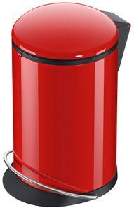 Tret-Abfallsammler, Hailo Harmony M, rot, 12 Liter, Inneneimer: Kunststoff, schwarz