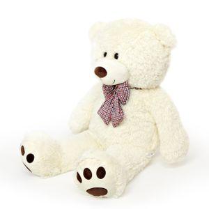 Lumaland Riesen XXL Teddybär Plüsch Kuschelbär Kuscheltier mit Kulleraugen 120 cm Beige