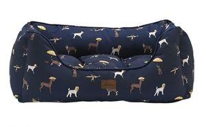 Joules hundekorb Hund Hundedruck 69 x 52 cm Textil marineblau