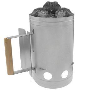 PrimeMatik - Anzündkamin schnelles Kohle durchglühen für Grill Barbecue BBQ