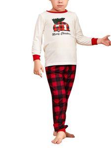 Damen Familie Pyjama-Set zweiteiliger Thermo Schlafanzug muster Nachtwäsche Set,Farbe: Kinder,Größe:110cm