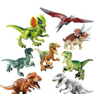 Neu 8stk Dinosaurier Dino T-Rex Figur Set Spielzeug Kindergeburtstag Kleinkind