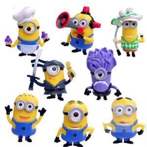 8pcs Anime Minion figur Spielzeug Kinder Geschenk Ornamente