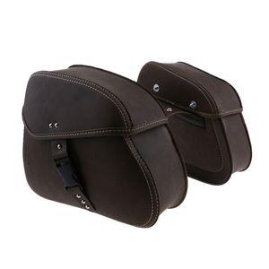 1 Paar Schwingen Pannier Satteltaschen (links und rechts) Farbe Retro Braun Sigle Schnalle