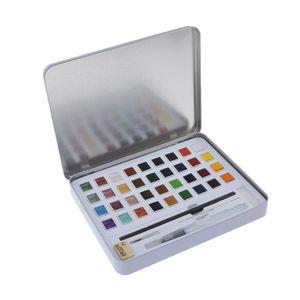 36/48 Farben Aquarellfarben Pigment Box Set Für Schülerzeichnung 36 Farben Mehrfarbig Fall