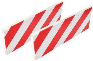 IWH Autotür-Schutzleiste für Garage 400 x 20 x 16 weiß / rot 2 Stück