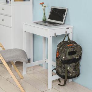 SoBuy Schreibtisch mit einer Schublade und 2 Haken,Computertisch, FWT43-W