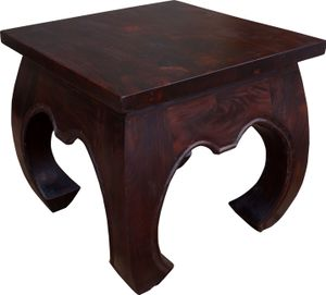 Opiumtisch Bodentisch, Kaffeetisch aus Indien, Quadratisch, Braun, Holz, Größe: 45*45 cm