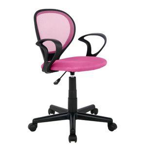 SixBros. Bürostuhl Drehstuhl Schreibtischstuhl Pink H-2408F/1406