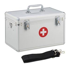 relaxdays Erste Hilfe Koffer Aluminium