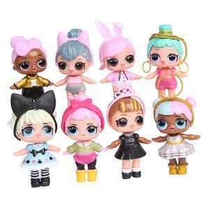 8 teile / satz Handgemachte PVC Überraschung Abbildung Mädchen Puppe Kinder Spielzeug Geburtstagsgeschenk