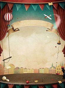 ABPHQTO 150x220 cm Cartoon Zirkus Bühne Vorhang Fotografie Studio Hintergrund Hintergrund