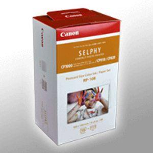 Canon RP 108 - 1 - Farbbandkassetten- und Papier-Kit - für SELPHY CP1000, CP910, CP910 Printing Kit
