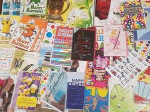 "20 x Glückwunschkarte "" Geburtstag "" Geburtstagskarte verschiedene Motive UVP 1,29€ - 2,49€"