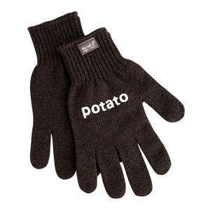 Kartoffelhandschuh Rubbel 'potato' 100% Nylon, dunkelbraun (1 Paar)