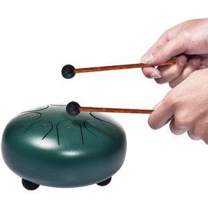 Kindertrommel,6 Zoll 8 Töne Drum Handpan Hand Pan tankdrum Zungen Trommel Rostfreier Stahl