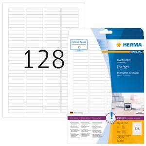 Dia-Etiketten A4 weiß 43,2x8,5 mm Papier matt 3200 St.