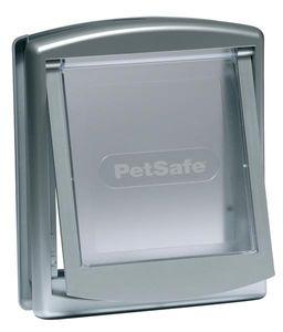 PetSafe 2-Wege-Haustierklappe 757 Mittelgroß 26,7x22,8 cm Silber 5022