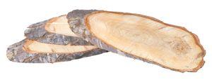VBS Baumscheiben, oval, 3 Stück, ca. 30cmx12cm